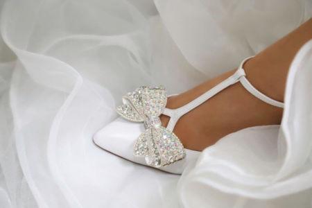 Chaussures cuir avec clip fantaisie
