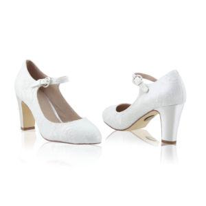 Chaussures satin dentelle